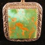 Royston Turquoise Pendant from Tonopah, Nevada